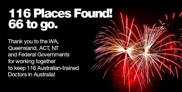 Announcement: 116 new Internship places found, 66 still needed